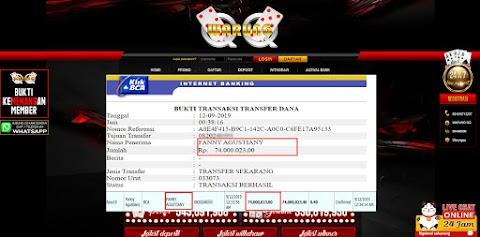 Selamat Kepada Member Setia WARUNGQQ Withdraw RP 74.000.023