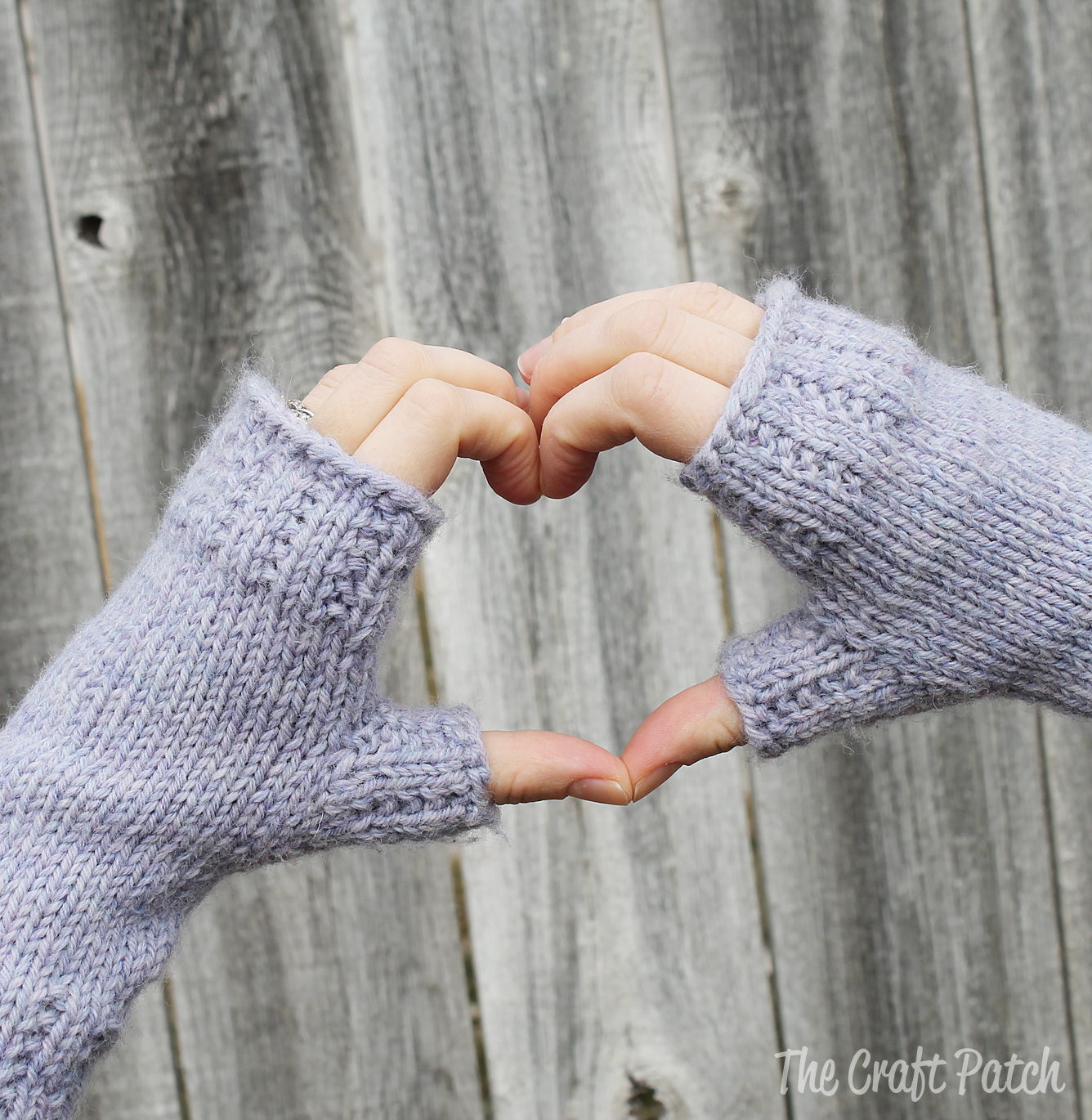 Knitting Pattern Fingerless Mittens Two Needles : The Craft Patch: Learn To Knit: Happy Hands Fingerless Mitts Free Pattern