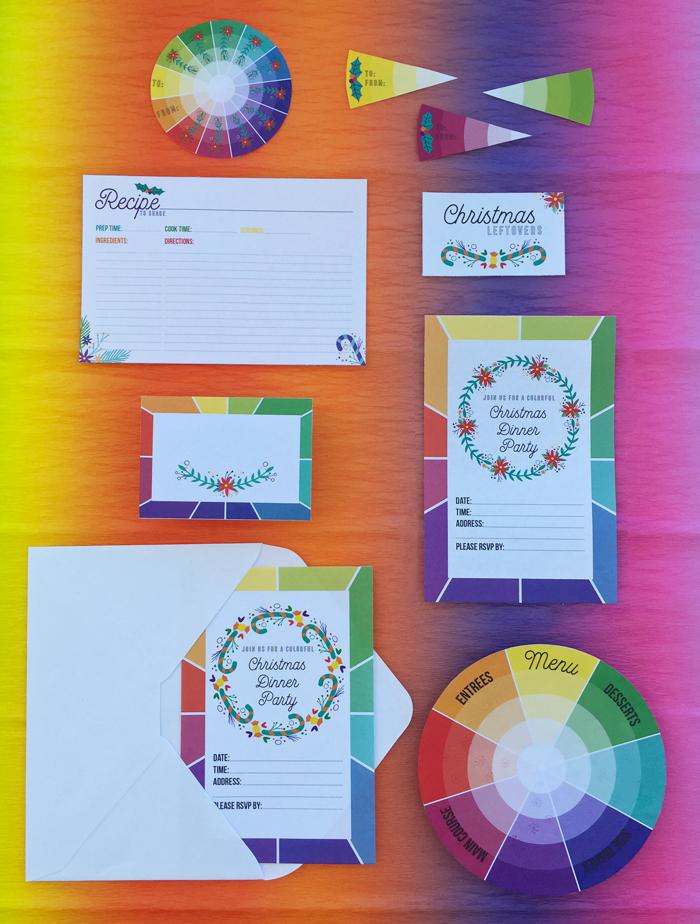 Color wheel, rueda de color, navidad. christmas, colorful christmas, poinsetias, flor de pascua, freebie, imprimible gratis, colorful, color pop, unique christmas, stationery