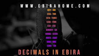 LEARN THE DECIMAL POINTS IN EBIRA LANGUAGE