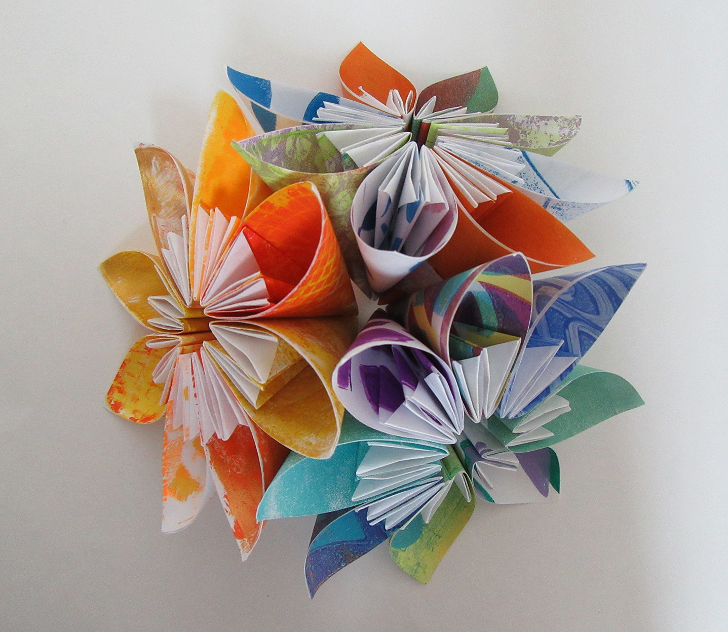Printing With Gelli Arts Modular Origami With Gelli Prints