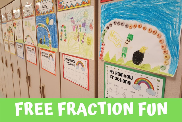 Free fractions activity for elementary students