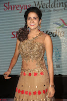Jenny in brown transparent sleeveless anarkali dress at Shamanthakamani pre release function ~  Exclusive 025.JPG