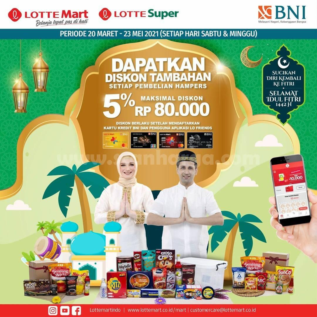 LOTTEMART Promo Diskon Tambahan 5% dengan Kartu Kredit BNI