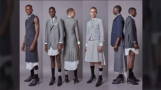 'Candete' nueva tendencia de moda tiene a los hombres vistiendo faldas y tacones de 20 centimetros