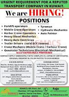 Transport company Jobs Vacancies
