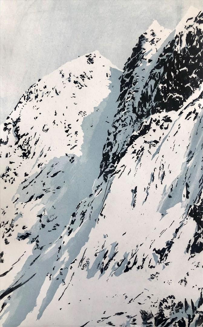 Emma Stibbon RA - Gully Shadow, Norway (intaglio print, edition of 40) - Royal Academy Summer Exhibition 2021 - London lifestyle & culture blog