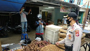 Razia Masker Pendisiplinan Masyarakat Oleh Polsek Kiaracondong Polrestabes Bandung