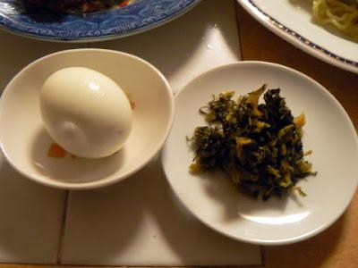 高菜とゆで卵