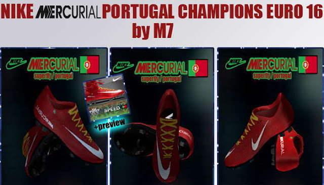 PES 2013 Nike Mercurial Portugal Champions Euro 2016 Boots