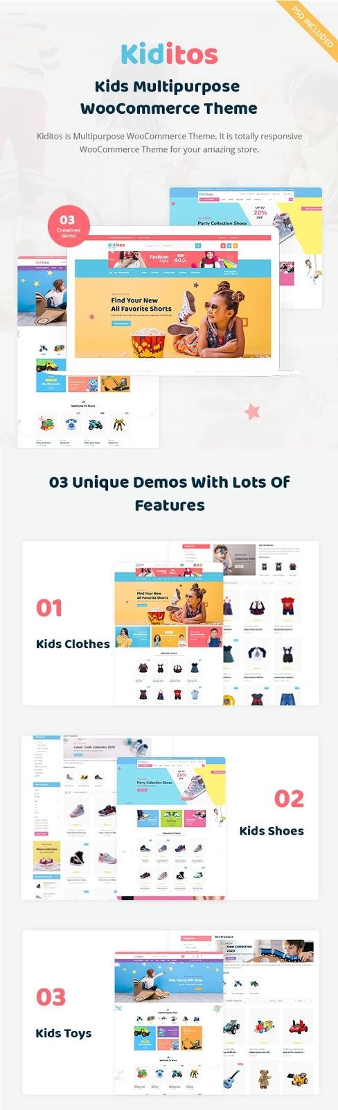 Baby and Kids WooCommerce WordPress Theme