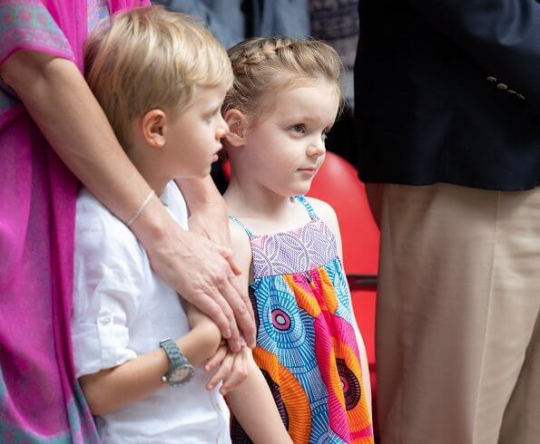 Prince Albert II and Princess Charlene, Crown Prince Jacques and Princess Gabriella