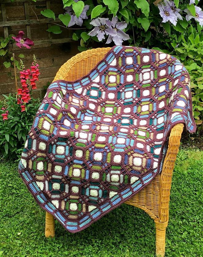 Crochet Blanket Pattern Similar to Stained Glass Stained Glass