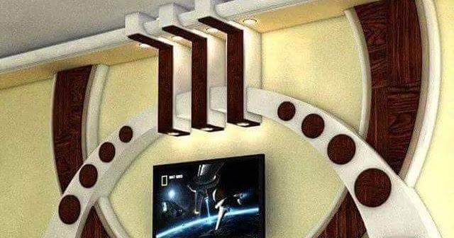 Décoration Platre Moderne Pour Plasma Tv 2016 اشغال الجبس والديكور
