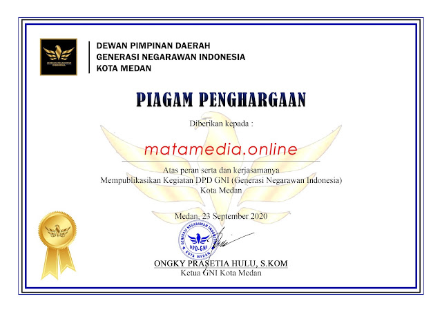 sertifikat mata media online