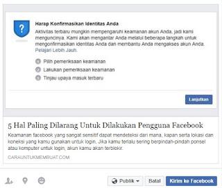 Share Link ke Facebook