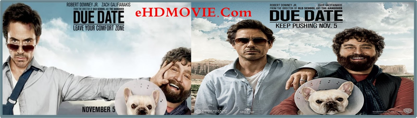 Due Date 2010 Full Movie Dual Audio [Hindi – English] 720p - 480p ORG BRRip 300MB - 800MB ESubs Free Download