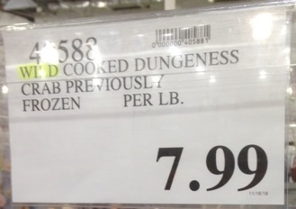 Deal for pre-cooked dungeness crab at Costco