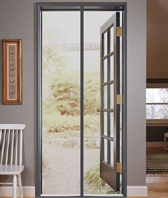 Lifekrafts Mosquito Screen Door Net Curtain with Magnets to keep Mosquitos & Bugs Outside of Your Home