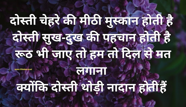 dosti shayari in hindi image