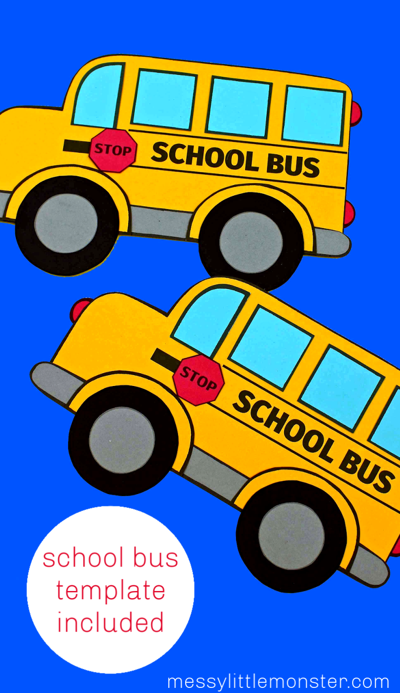 Back to school bus craft with school bus template