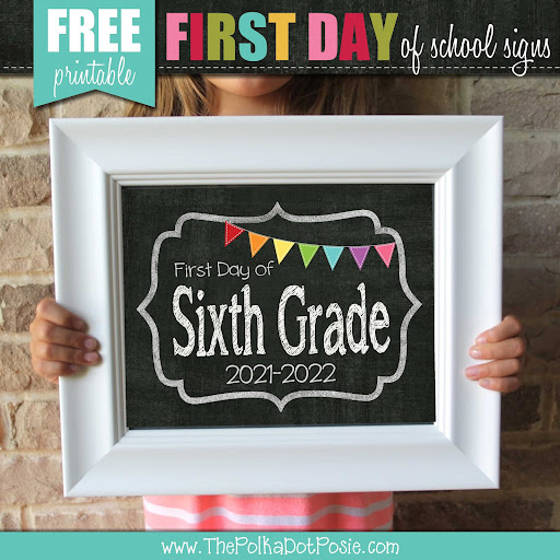 FREE First Day of School Signs!