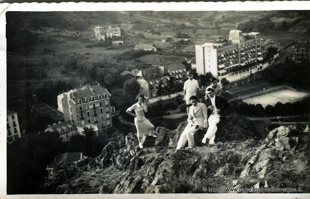 photo noir et blanc d'hier : Châtel-Guyon