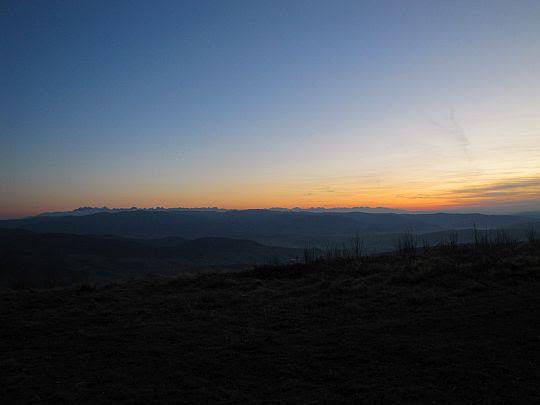 Tatry po zachodzie słońca.