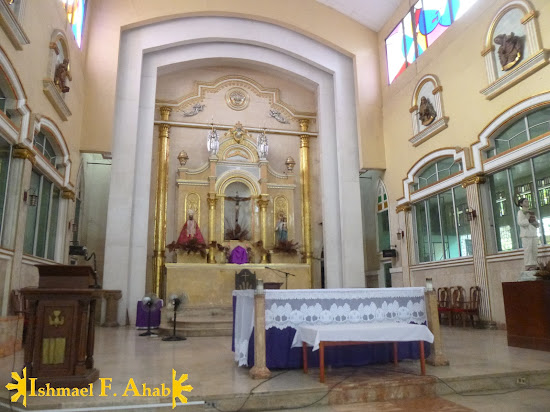 The altar of Consolacion Church in Consolacion, Cebu