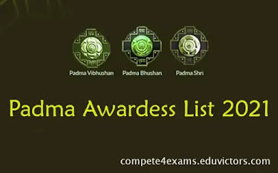Padma Awardess List 2021 (#India)(#awards)(#compete4exams)(#eduvictors)