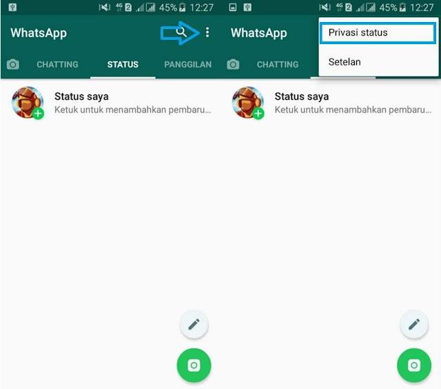 Cara Menyembunyikan Status WhatsApp Dari Kontak Tertentu