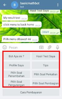 Fitur Bot Matematika Telegram