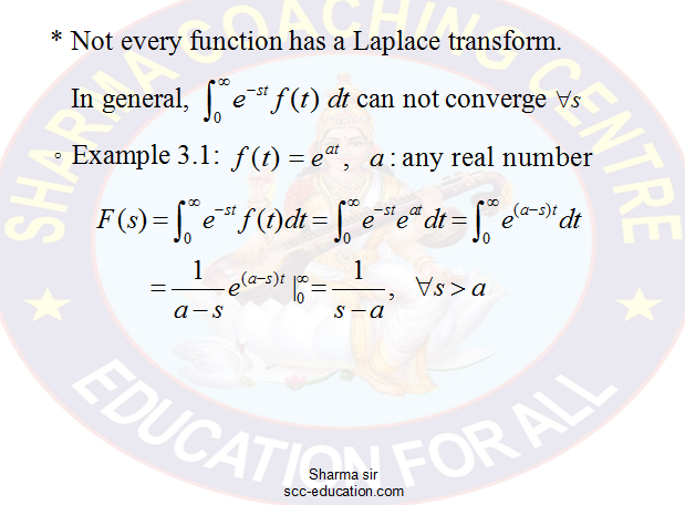 Laplace Transform  notes with solved example,applied mathematics, maths for polytechnic,