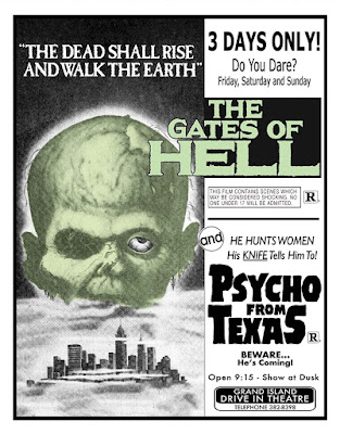 Cover art for Dark Force Entertainment's Double Feature of THE GATES OF HELL & PSYCHO FROM TEXAS!