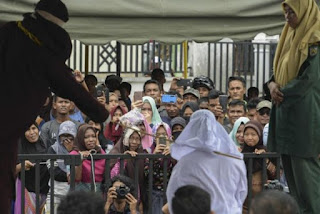 Two People Flogged Publicly In Indonesia For Playing Children's Video Game (See Photos)