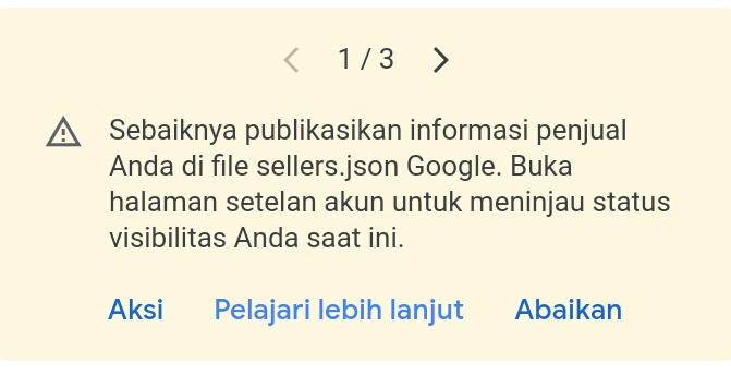 Cara Mengatasi File seller.json Google Adsense