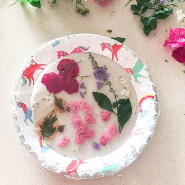 Spring crafts for kids - paper plate suncatcher craft
