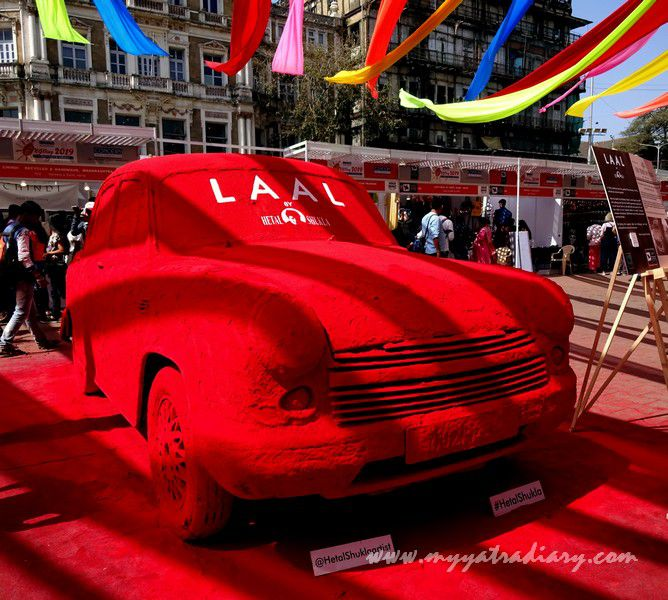 Laal - Visual arts, Kala Ghoda Arts Fest, Rampart Row, Fort.