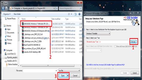 Cara Membuat Bootable OS windows, Linux Dengan universal USB