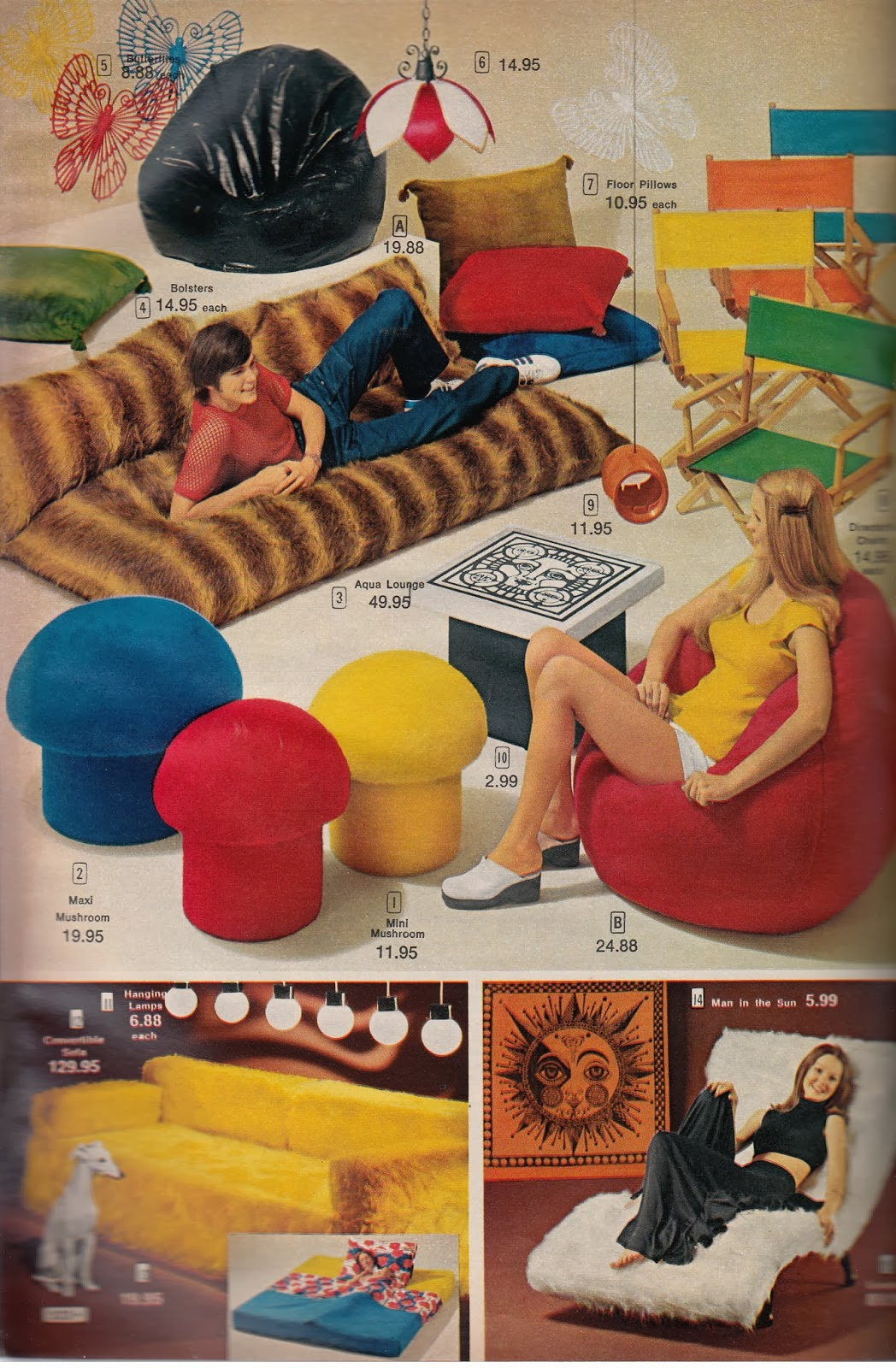Mushroom Bean Bag Chair Mega Motion Lift Kathy Loghry Blogspot Crazy Catalog Stuff Part 2 Pimp