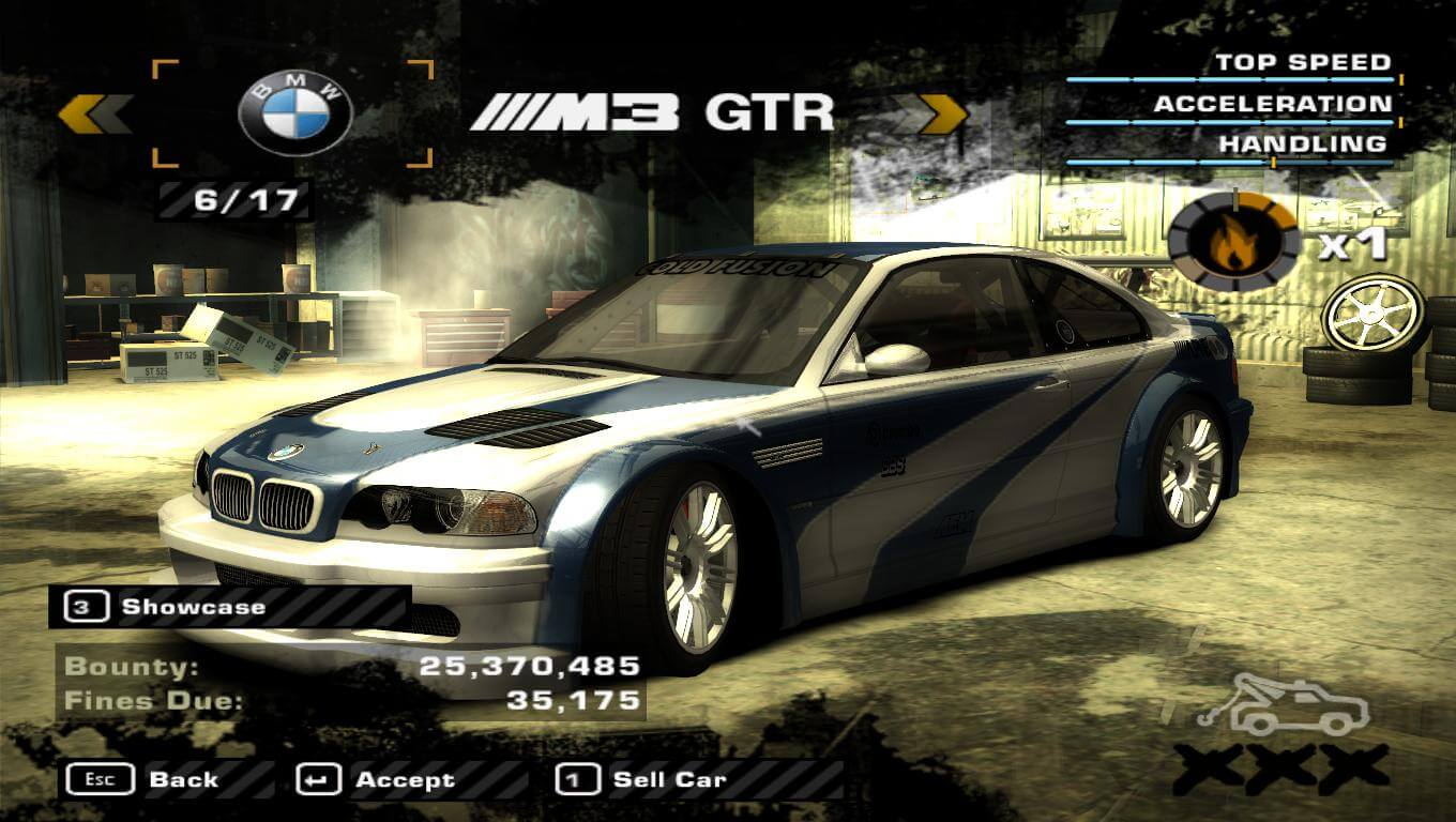 BMW E46 M3 GTR NFS Most Wanted