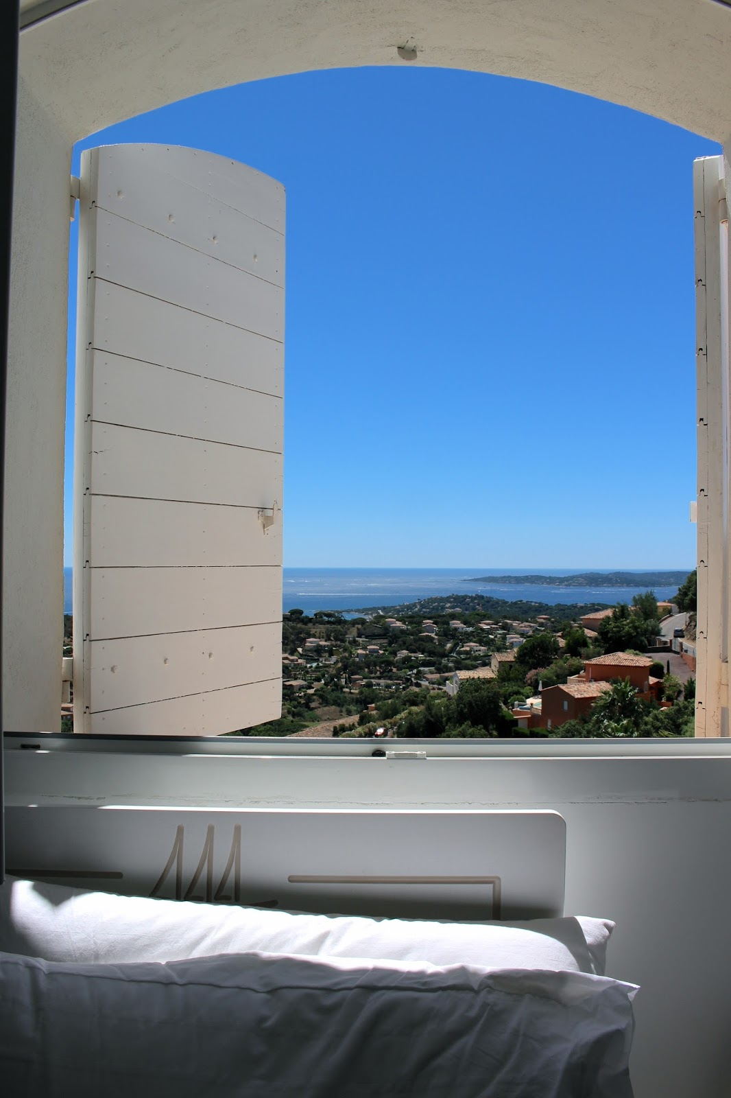 View from my bedroom in Sainte Maxime villa