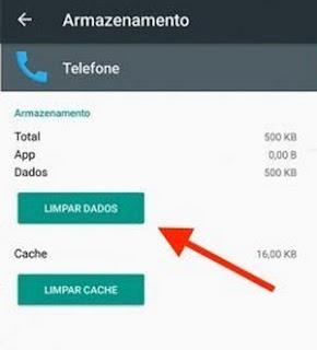 limpar icone mensagem de voz android