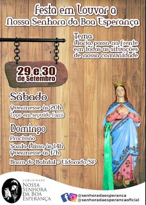 Festa em Louvor a Nossa Senhora da Boa Esperança 2018 dias 29 e 30 de Setembro