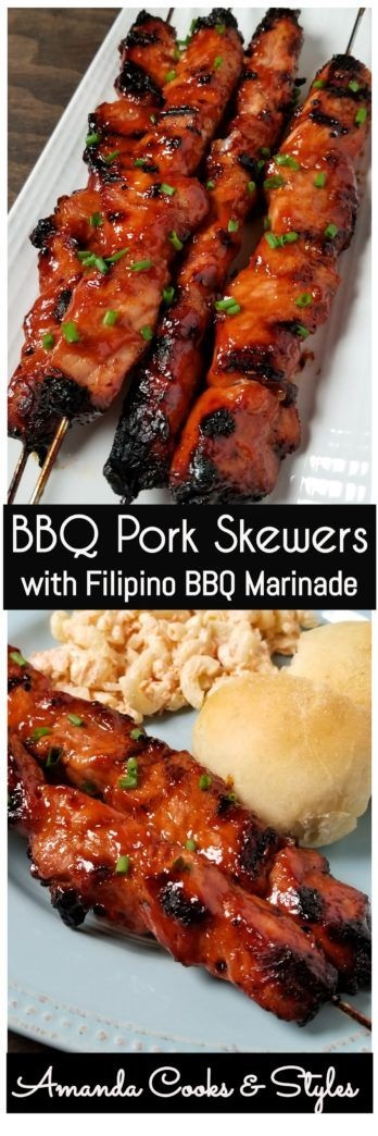 Bbq Pork Skewers With Filipino Bbq Marinade