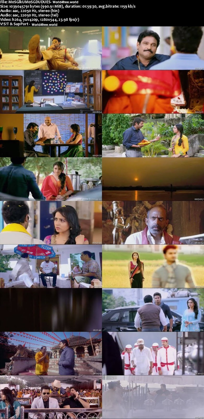 Screen shoot of Mosagallaku Mosagadu 2015 dual audio eng-hindi movie 720p free download