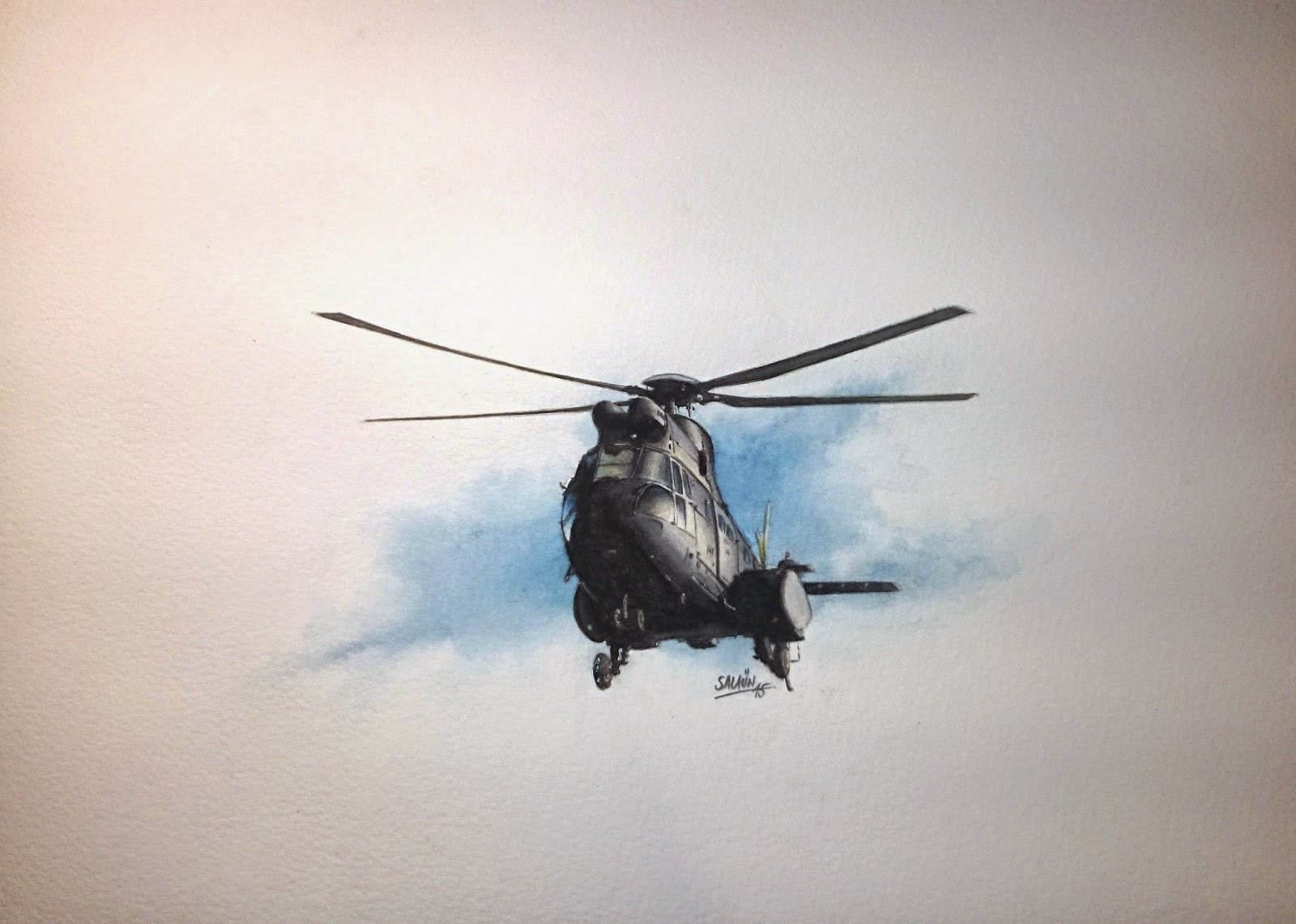 "Aquarelle AS-332C ""SUPER-PUMA"""