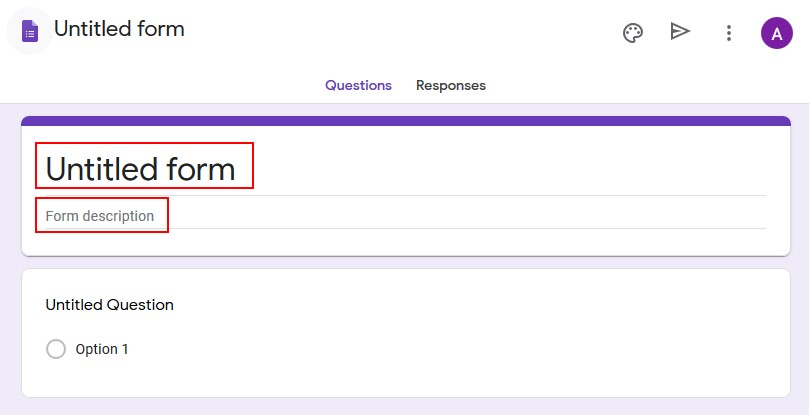 menentukan judul dan deskripsi google form
