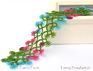 """Tatted bookmark """"Fleurette"""" tatted by PrettyNett.de"""