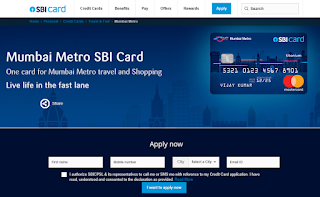 How to Apply SBI Credit Card Online, Mumbai Metro SBI Card